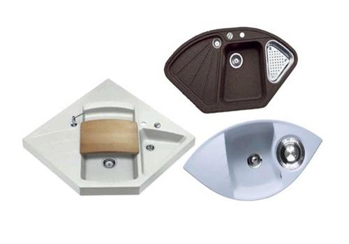 Фото: Кухонные мойки угловые — выбор по параметрам