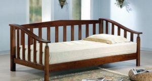 Кровать односплальная со спинкой