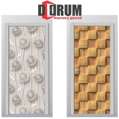 Две модели дверных полотен