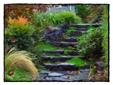 Лестница натуральный камень
